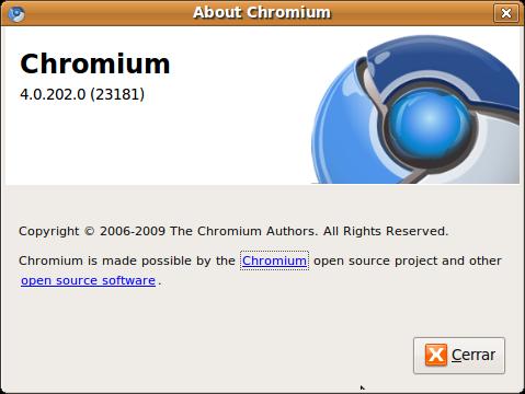 Chromium 4.0.202.0