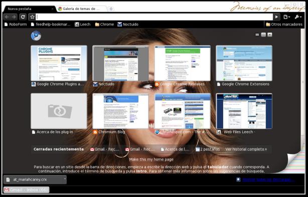 Tema Mariah Carey para Google Chrome y Chromium