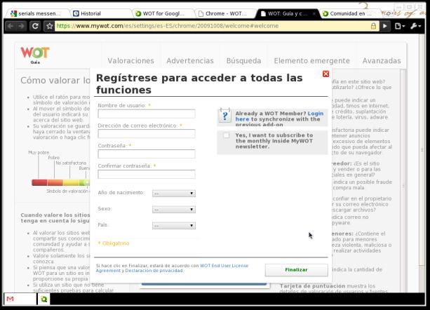 Pantallazo-WOT: Guía y configuración | WOT Web of Trust - Chromium-1