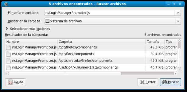 Pantallazo-5 archivos encontrados - Buscar archivos