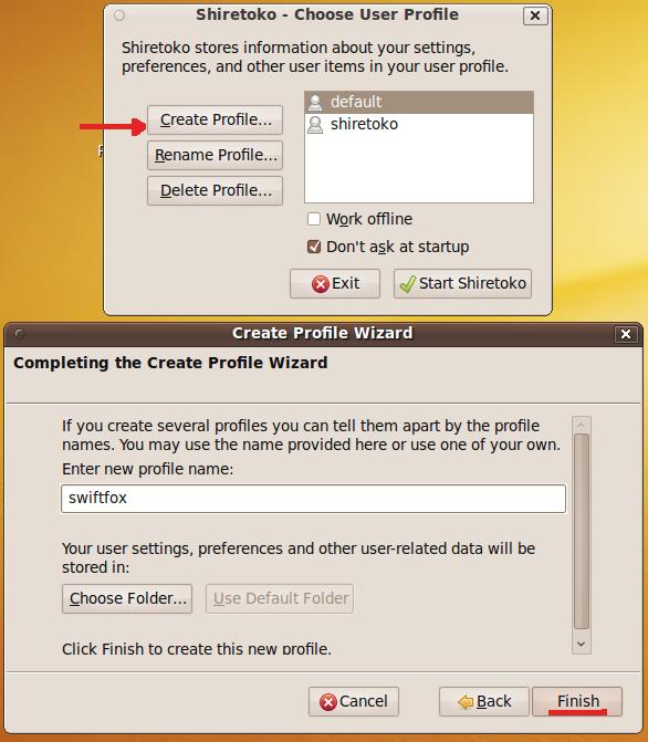 Gestor de perfiles de Firefox