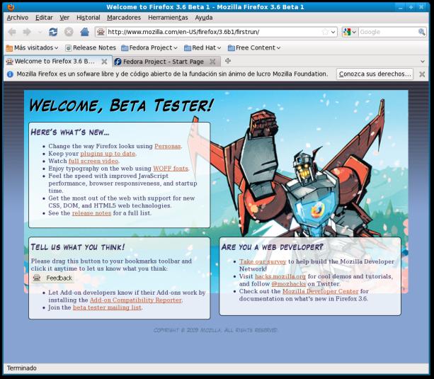 Mozilla Firefox 3.6 Beta 1