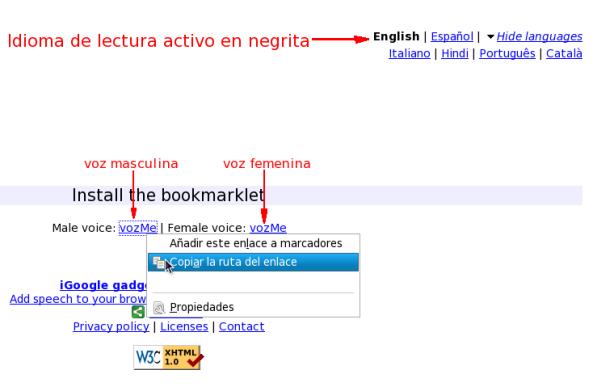 Seleccionar y copiar el bookmarklet