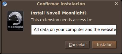 Moonlight también para Google Chrome  | Noctuido